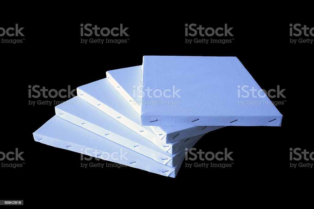 Blank Artist Canvases royalty-free stock photo