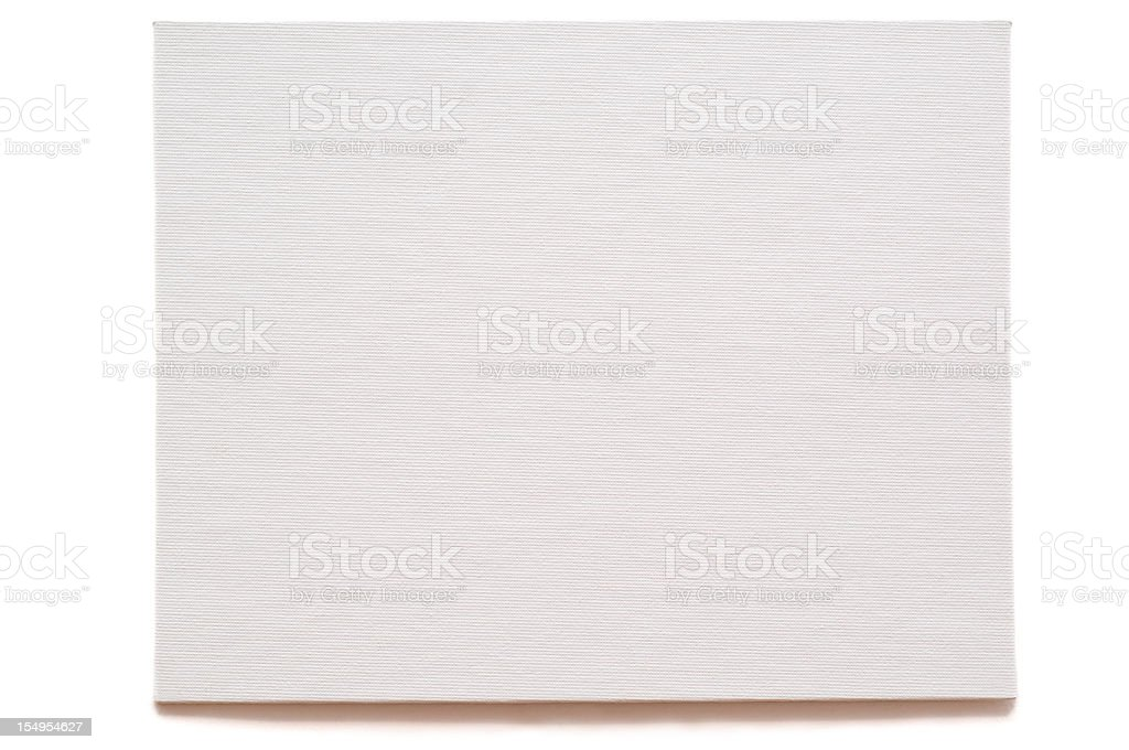 Blank artist oil paint canvas royalty-free stock photo