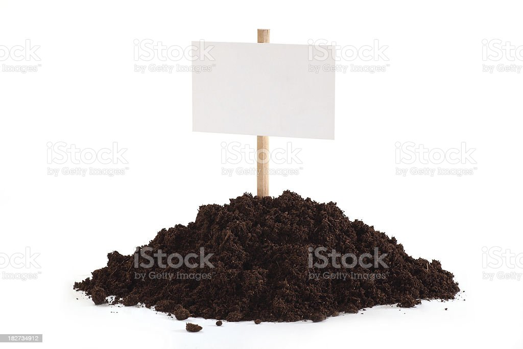 Blank as a Sign from Soil. royalty-free stock photo