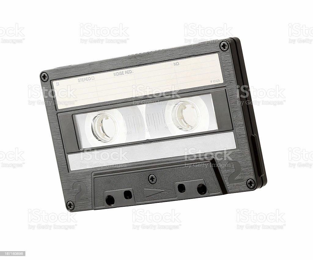 Leere Audiocassette Nahaufnahme Isoliert – Foto