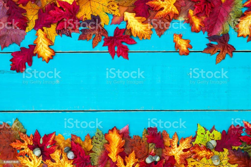 Blank autumn sign stock photo