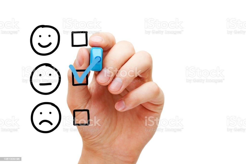Blank Average Customer Survey Evaluation Form stock photo