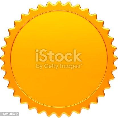 istock Blank award medal simple design element 142640405