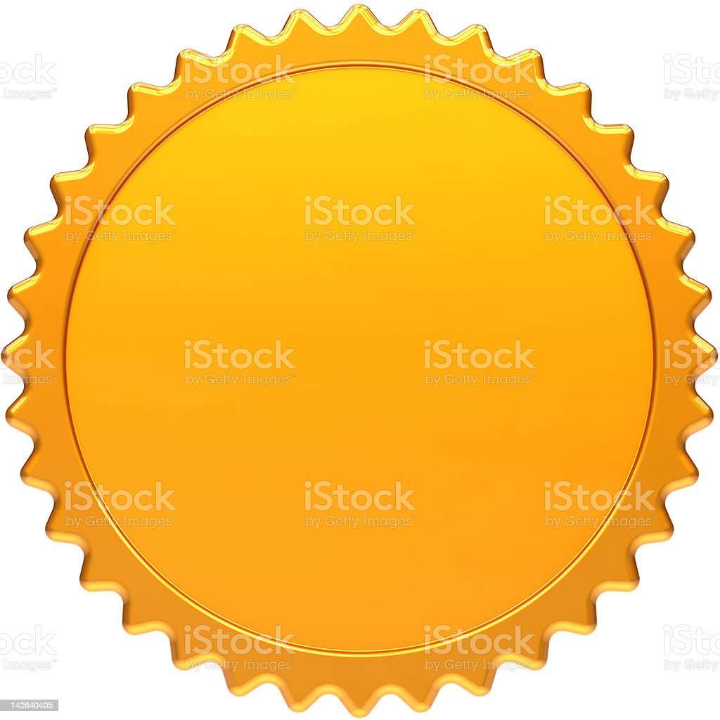 Blank award medal simple design element stock photo