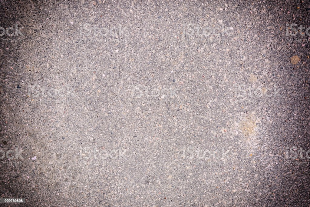 Blank background with vignette. Texture of granular asphalt. Empty...