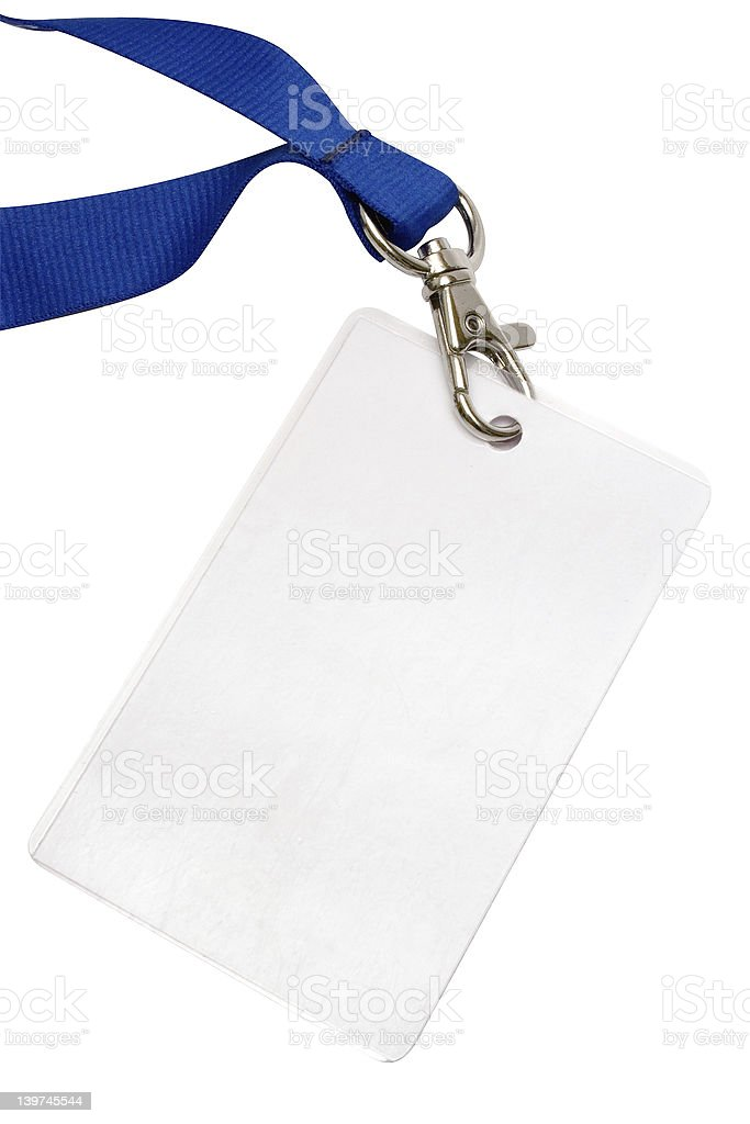 Blank Backstage Pass w/ Path stock photo