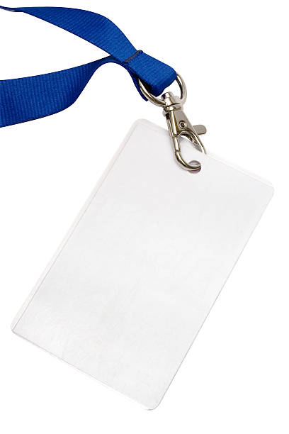 Blank Backstage Pass w/ Path Blank backstage pass to put your own text on. File contains clipping path. security pass stock pictures, royalty-free photos & images