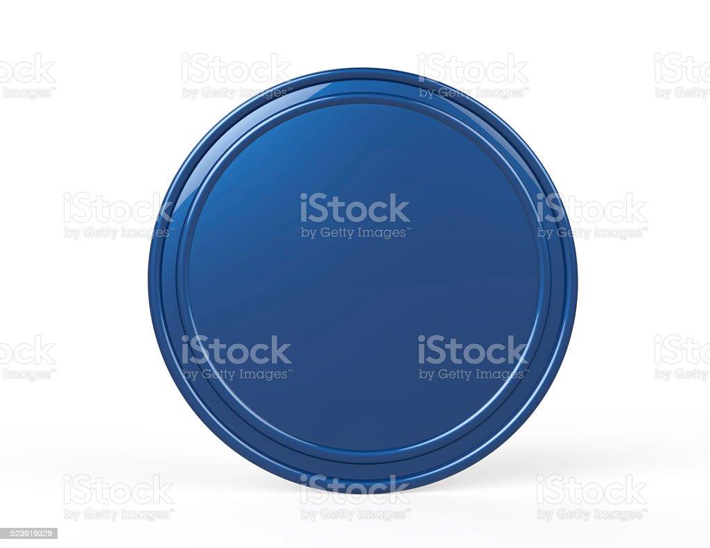 Blank badge button stock photo