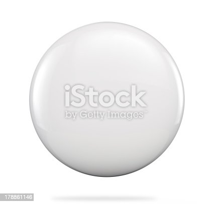 Blanks badge button. Clipping path included for easy selection.