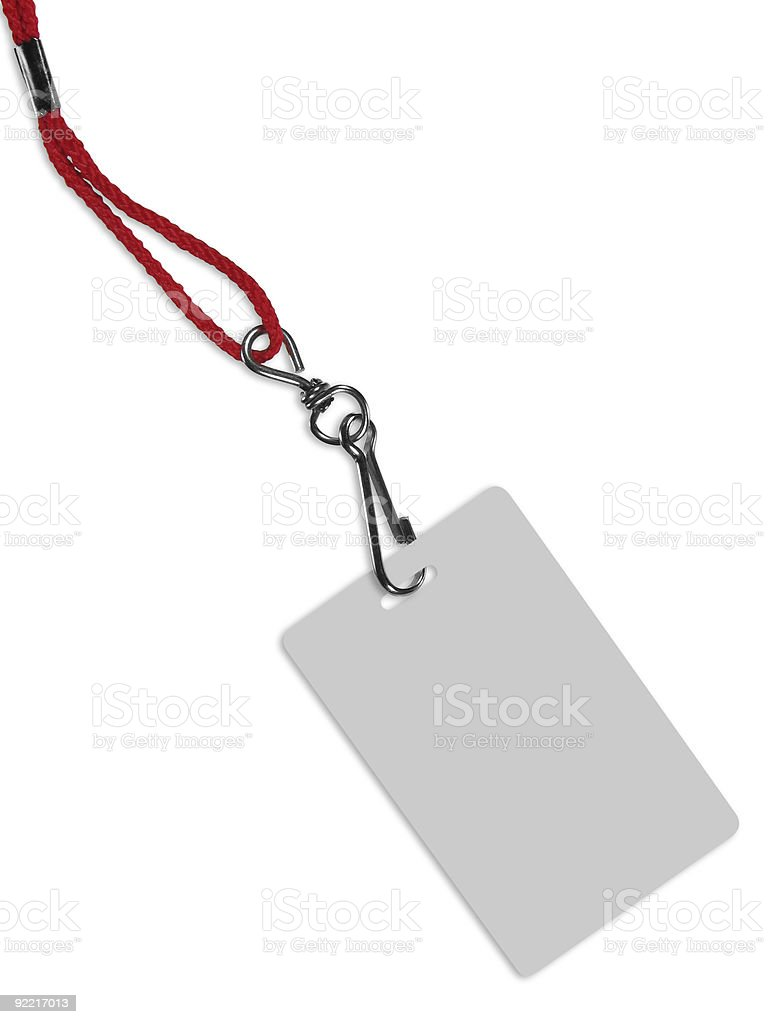 Blank badge with copy space (+ clipping path) stock photo