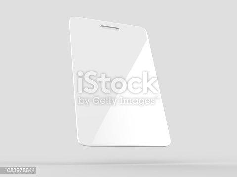 istock Blank Bag Tag, Event Passe and Name Badge for mock up design. 3d render illustration. 1083978644