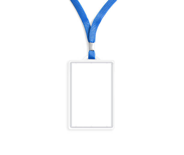 blank bagde mockup isolated on white - badge stock pictures, royalty-free photos & images