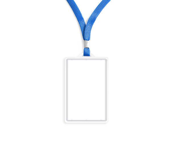 Blank bagde mockup isolated on white stock photo