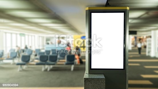 istock blank banner display in airport gate 930904594