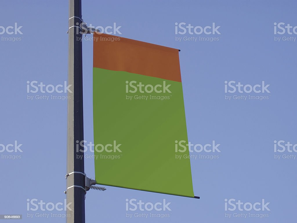 Blank Banner Orange and Green royalty-free stock photo