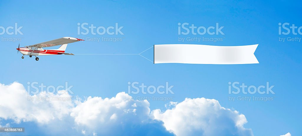 blank banner stock photo