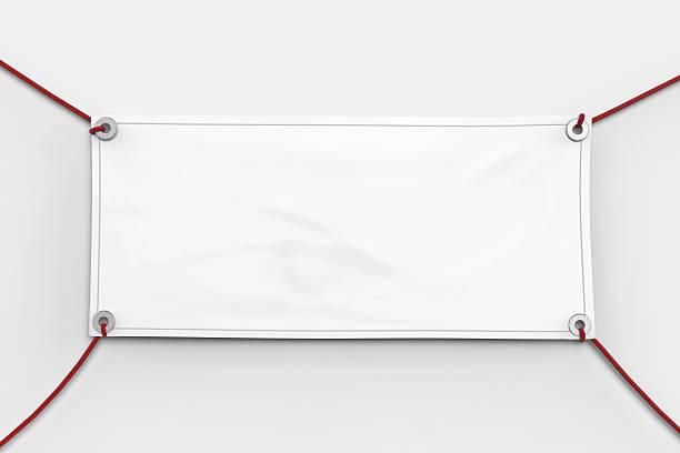 En blanco banner  - foto de stock