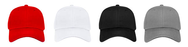 Blank baseball cap 4 color set Blank baseball cap 4 color set on white background baseball cap stock pictures, royalty-free photos & images
