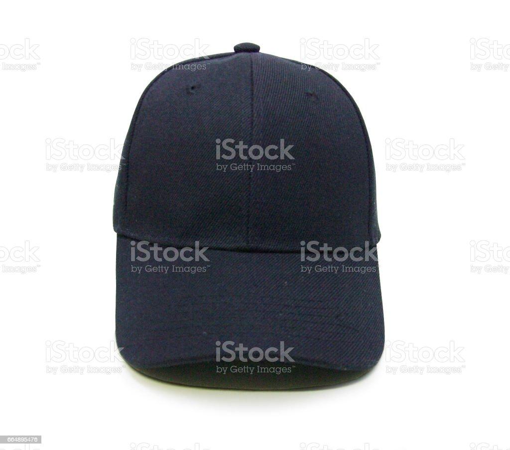 Blank baseball cap color balck stock photo