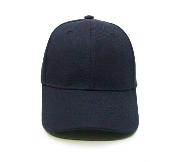 Blank baseball cap color balck stock photo