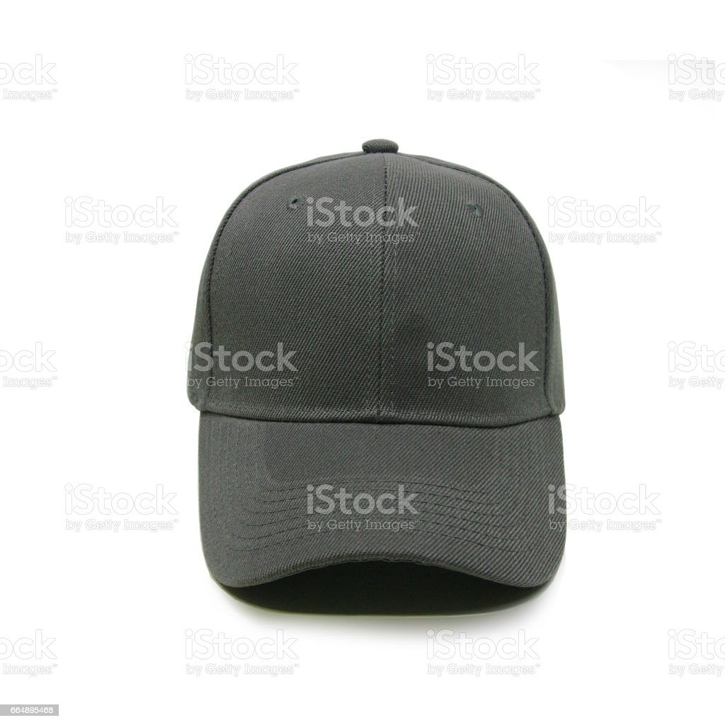 Blank baseball cap color darkgrey foto stock royalty-free