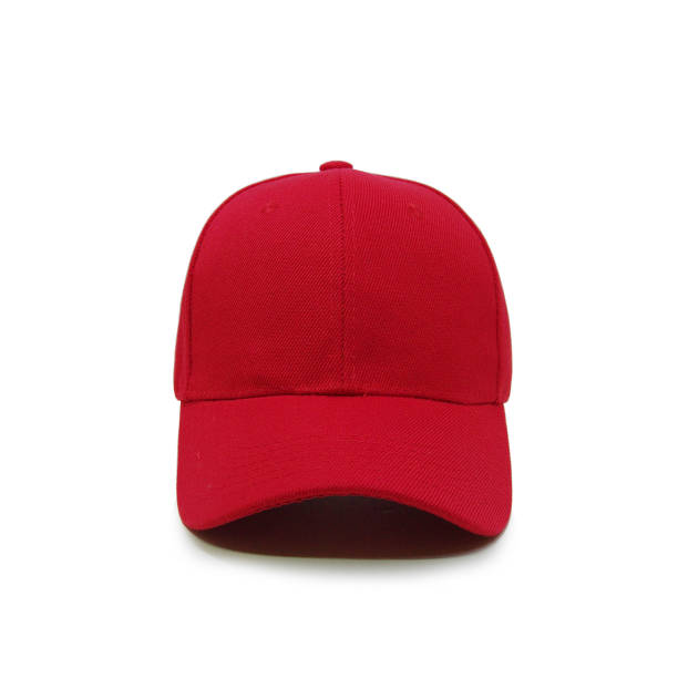 blank baseball cap color red - cap hat stock photos and pictures