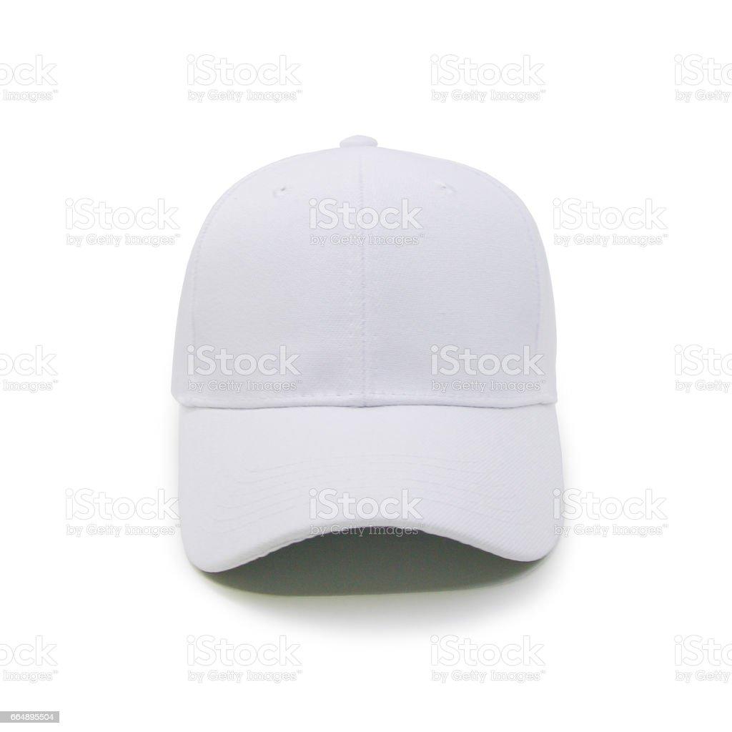 Blank baseball cap color white stock photo