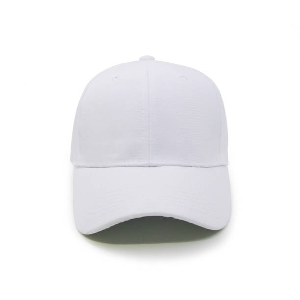 Blank baseball cap color white stock photo