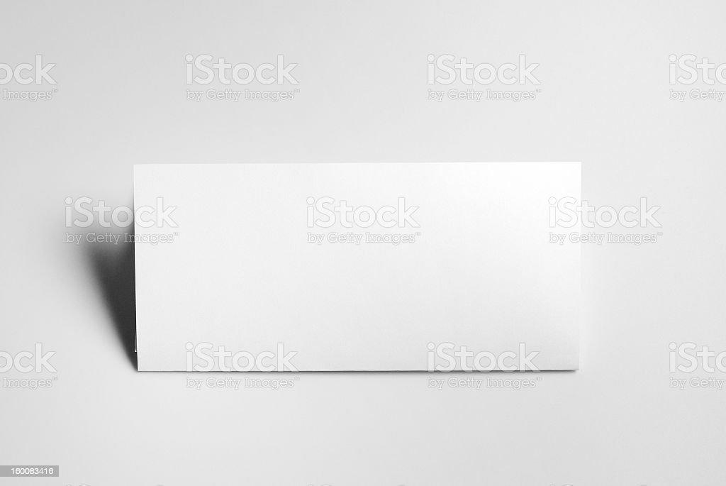 Blank basic stationery. Letterhead folded. royalty-free stock photo