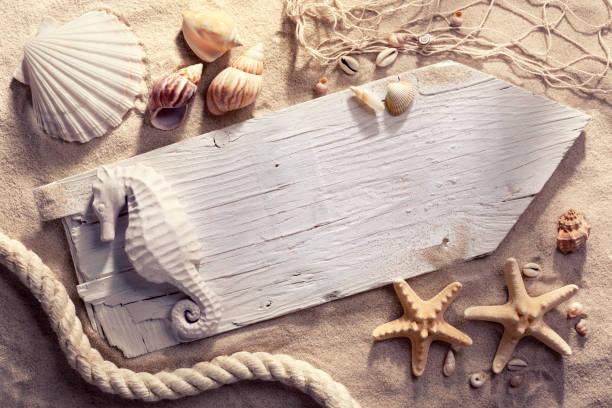 Leere Strand Zeichen – Foto