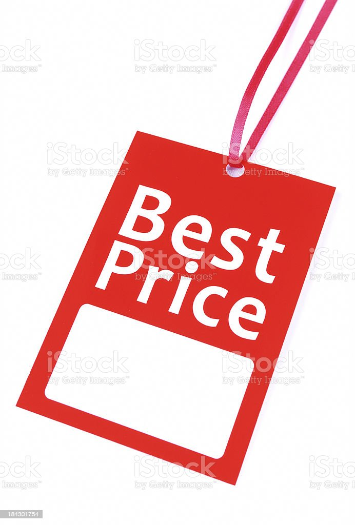 Blank best price tag royalty-free stock photo