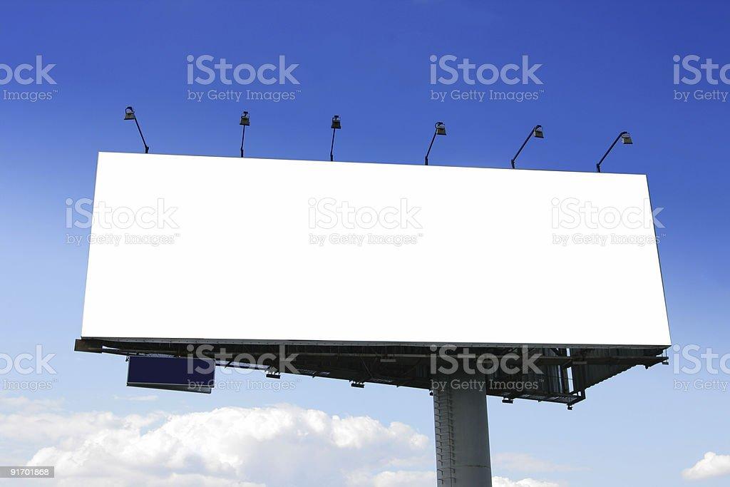 Blank big billboard royalty-free stock photo