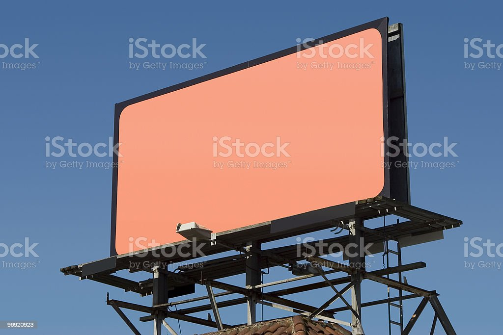 Blank Billboard 3 royalty-free stock photo