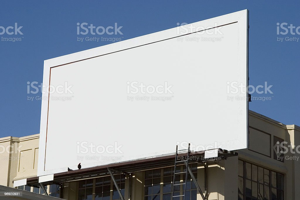 Blank Billboard 4 royalty-free stock photo