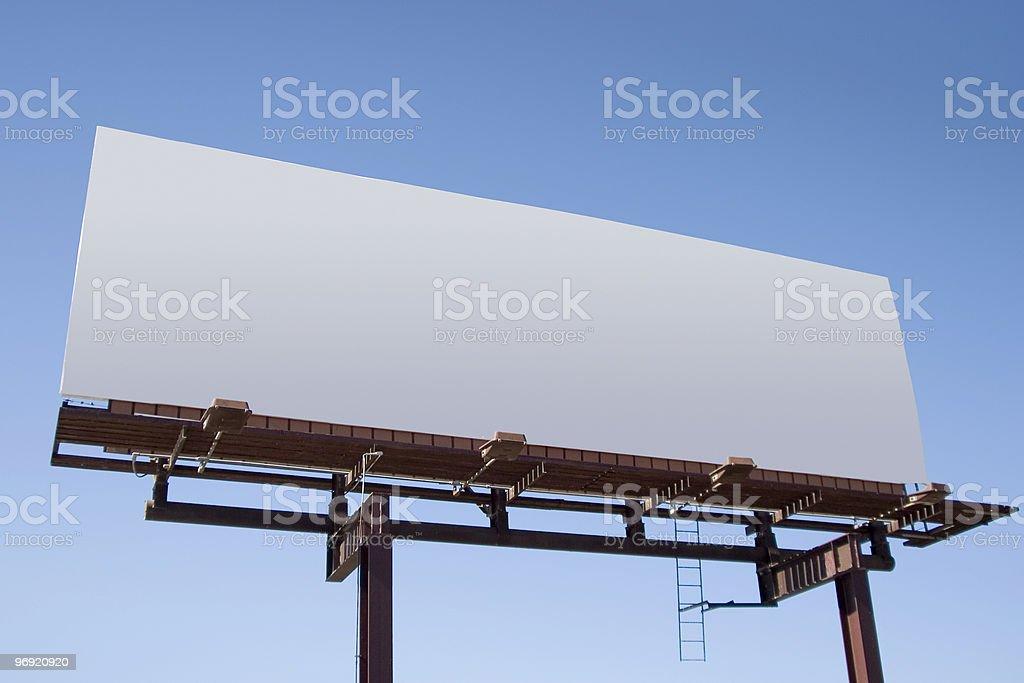 Blank Billboard 6 royalty-free stock photo