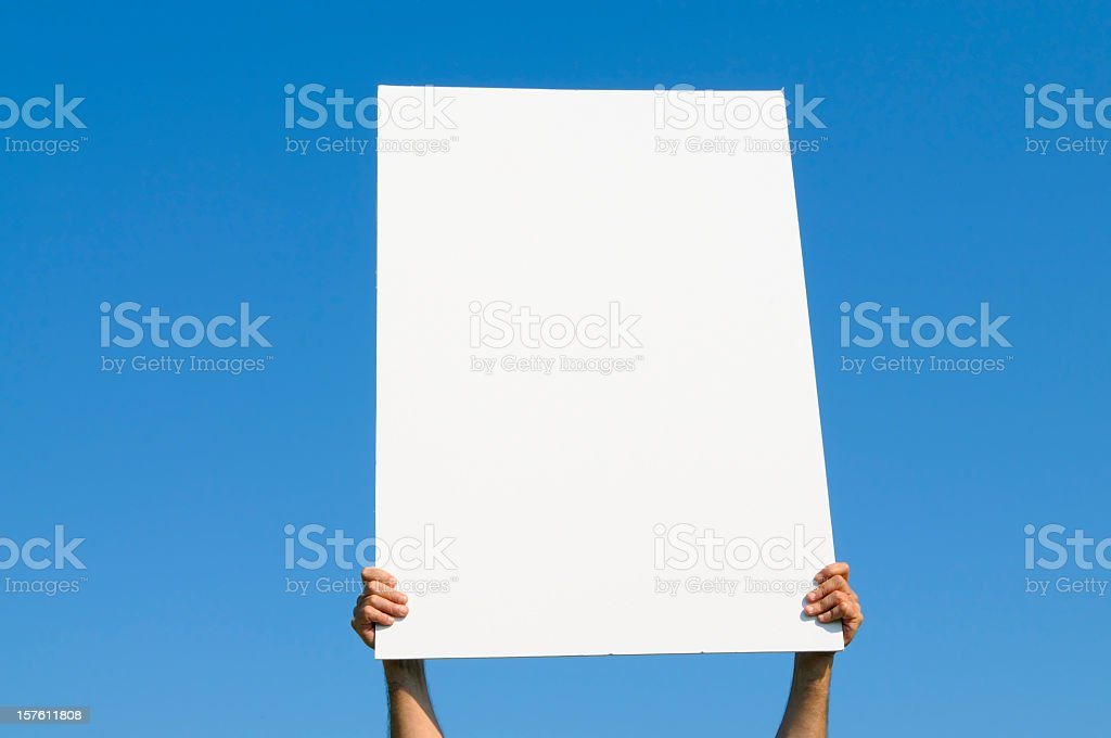 Blank Billboard against Blue Sky, Copy Space royalty-free stock photo