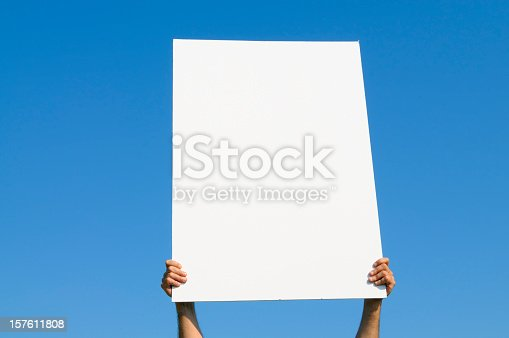 istock Blank Billboard against Blue Sky, Copy Space 157611808
