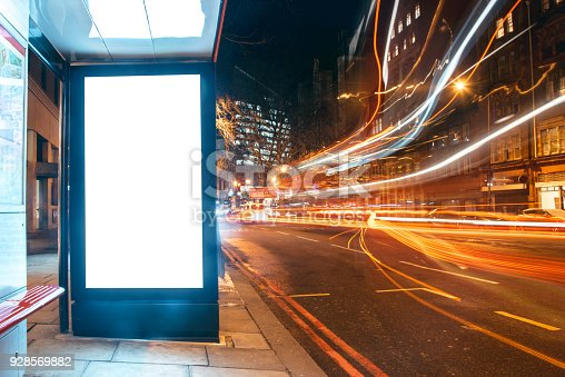 istock Blank billboard at bus station 928569882
