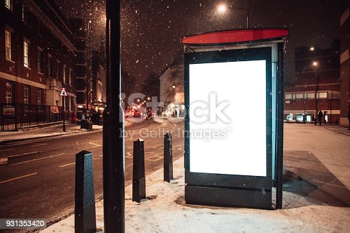 istock Blank billboard at bus station 931353420