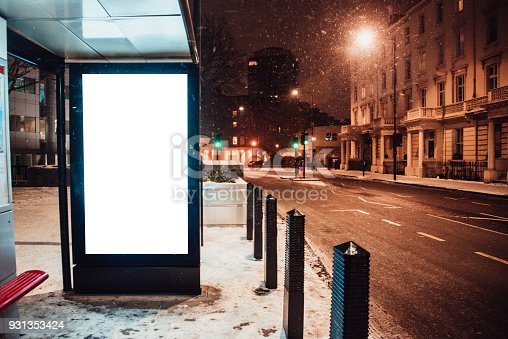 istock Blank billboard at bus station 931353424