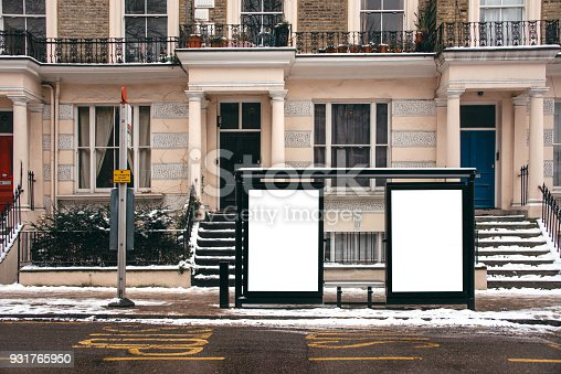 istock Blank billboard at bus station 931765950