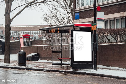 istock Blank billboard at bus station 931765990