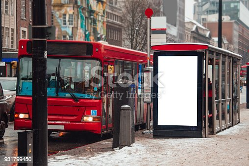 istock Blank billboard at bus station 931799450