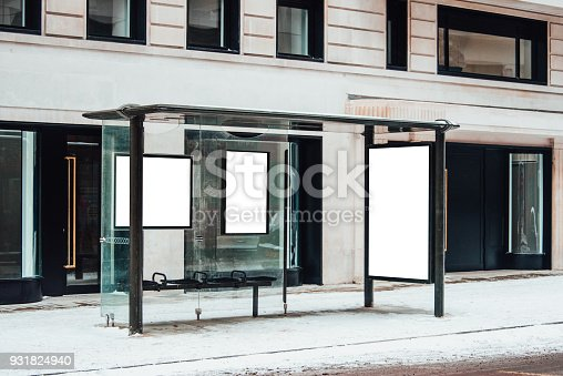 istock Blank billboard at bus station 931824940