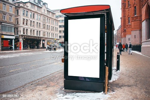 istock Blank billboard at bus station 931851782