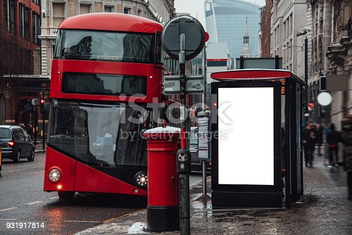 istock Blank billboard at bus station 931917814