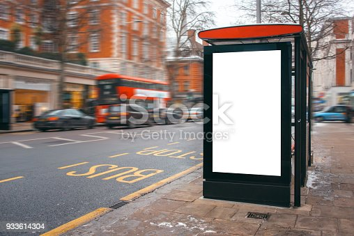 istock Blank billboard at bus station 933614304