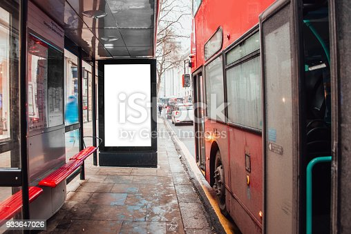 istock Blank billboard at bus station 933647026