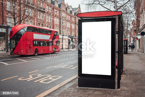 istock Blank billboard at bus station 933647040