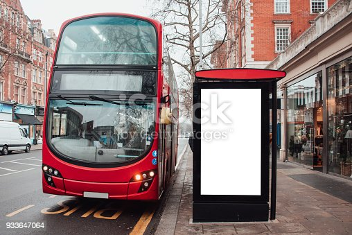 istock Blank billboard at bus station 933647064